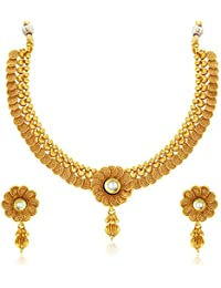Sukkhi Collection Jewellery Sets for Women (Golden) (2550NGLDPP1800)