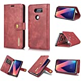 LG V30 LG V30 Plus Holster Case Flip, Codream Cover Suit Premium Vertical Leather Pouch Sleeve Carrying Case Covers With Card Slot Holster For LG V30 LG V30 Plus (Red)