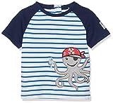 SALT AND PEPPER Baby-Jungen T-Shirt B Pirat Stripe Krake, Blau (Strong Blue 465) 68