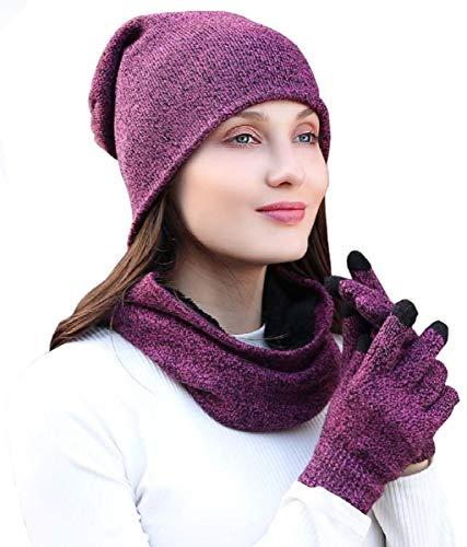 Sombrero bufanda conjunto de guantes