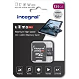 Integral 128GB micro SD card Premium High Speed memory microSDXC Up to 100MB/s V30 UHS-I U3