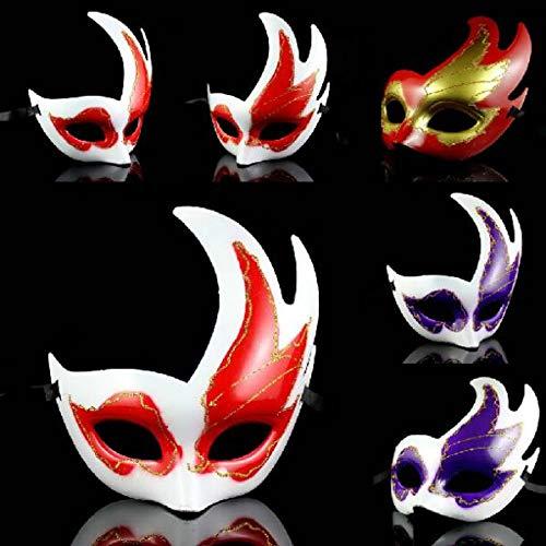 HITSAN INCORPORATION Fashion Maple Leaf Christmas Masks Masquerade Decorations Half Mask Halloween Venetian Mask 10pcs/lot SD225