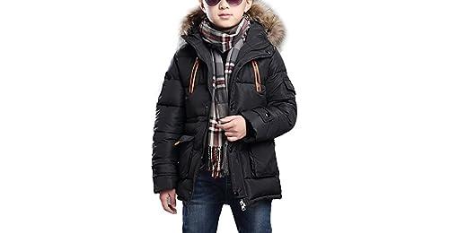 Bambini Giubbotto Piumino Giacca Invernale Cappuccio Cappotto Giacca Puffer  Cappotto Imbottito Snowsuit Per Ragazzi 900ab549381
