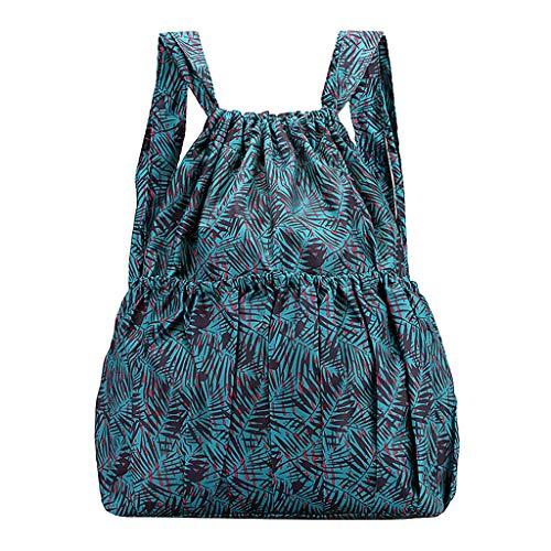 DOFENG Damen Ethnischer Stil Drucken Wasserdicht Nylon Daypack Rucksack Schultaschen Tagesrucksack Handtaschen Umhängetasche Reiserucksack für Schule Reise Arbeit (E1, Eine Größe) -