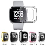 CAVN Compatible with Fitbit Versa Screen Protector Case [2 Packs], TPU Plated Screen Protector Rugged Cover Full-Cover Scratch-Proof Protective Bumper Shell for Fitbit Versa Smartwatch