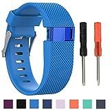 Cyeeson Fitbit Charge HR - Correa de silicona suave de recambio para reloj Fitbit Charge HR, banda...