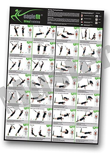 eaglefit ® Sling Trainer Übungsposter/Trainingsposter mit 28 Übungen A1
