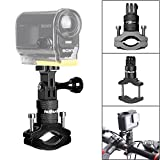 fantaseal Support Vélo en Aluminium pour Gopro, Fixation Caméra Action Rotation à 360 Degrés, Attache Gopro Hero7/ 6/5/ 4/3+/ 3 Session, DJI Action,Carmin Virb X, Xiaomi yi 4k, etc.