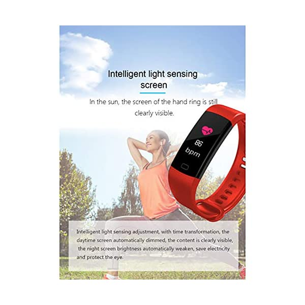 Milnnare Reloj Inteligente Presión Arterial Frecuencia cardíaca Monitor de sueño Podómetro Sports Fitness Smart Pulsera - Purple 8