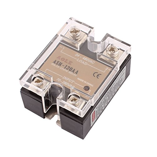 sourcingmap® Asche 120AA 70-280VAC bis 480VAC 120A Single Phase Solid State AC-AC Relais (Single Phase 480)