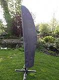 Ampelschirm Schutzhülle Polyester grau 265x70cm Schutzhaube Abdeckung