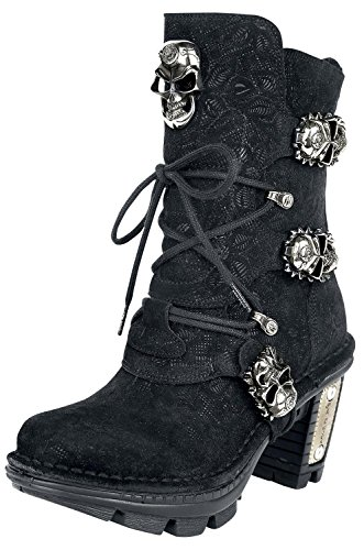 Gothicana by EMP New Rock Skull Head Scarpe nero EU41
