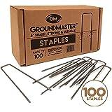 """Groundmaster 6""""/150mm grapas de jardín–forma de U clavijas de seguridad Ideal para forro polar, tejido Control de malezas tela, membrana, lonas, malla y cubierta"""