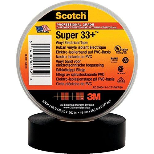 LEDKIA Scotch Super 33 + Elektro-Isolierband 3M 19mm x 20m Schwarz