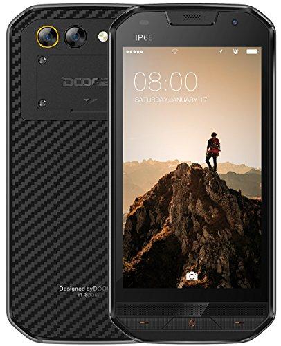 DOOGEE S30 - IP68 Impermeable 4G Rugged smartphone Android 7.0, batería 5580mAh cámara triple (5MP + 3MP + 8MP), GPS Dual SIM de 2GB / 16GB - Negro