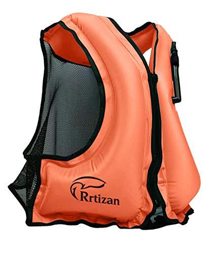 Rrtizan Aufblasbare Schwimmweste Festtoffweste ideal Für Erwachsene für den Wassersport, Auftriebshilfe