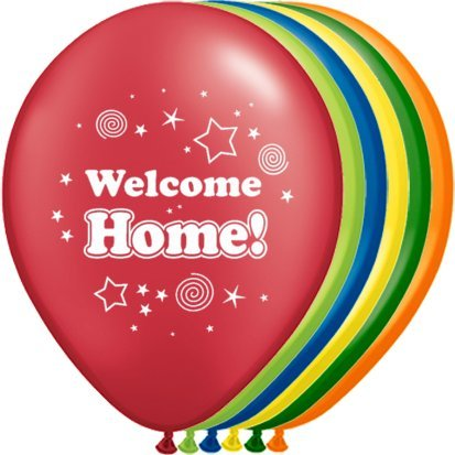 "Preisvergleich Produktbild Luftballons ""Welcome Home"" Ø 30 cm 10 Stück - partydiscount24®"