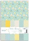 Toga ppk001Nascita Confezione da 48Fogli Stampati Carta, Carta, Animaux Bleu et Jaune, 21 x 30,5 x 1 cm