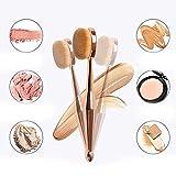 Taottao 1pcs Brosse à dents la nouvelle Brosse de Maquillage Fond de teint de sirène ovale Pinceaux un Lot