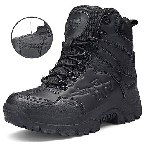 Stiefel Herren Wanderschuhe Damen Trekkingschuhe Armee Combat Tactical Boots Verschleißfest Rutschfeste Outdoor Einsatzstiefel Für Maenner Frauen, Schwarz01, 40 EU (Herstellergröße: 41CN)