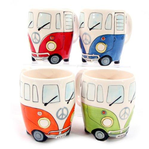 Wohnmobil Tasse in 4 versch. Farben, Farbe:grün