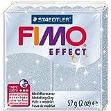 Staedtler - Fimo Effect - Pain Pâte à Modeler 57 g Effet Pailleté Argent