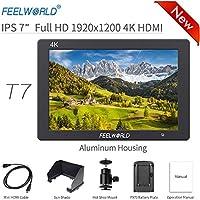 """Feelworld T7 Cámara Monitor 7"""" 4K HDMI Ultra HD 1920x1200 Campo Video LCD IPS Pantalla 1200:1 Alto Contraste para Constante CAM, DSLR Rig, Kit de Videocámara, Estabilizador de Mano"""