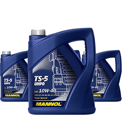 MANNOL 4 x 5L TS-5 UHPD 10W-40 API CI-4/LKW Busse Synthetisches Motoroel VDS-3 ACEA E7