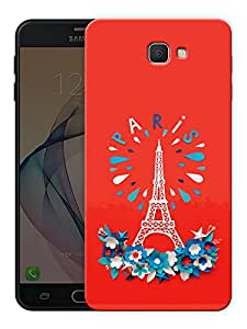 """Humor Gang eiffel tower - paris - red Printed Designer Mobile Back Cover For """"Samsung Galaxy On7 2016"""" (3D, Matte Finish, Premium Quality, Protective Snap On Slim Hard Phone Case, Multi Color)"""