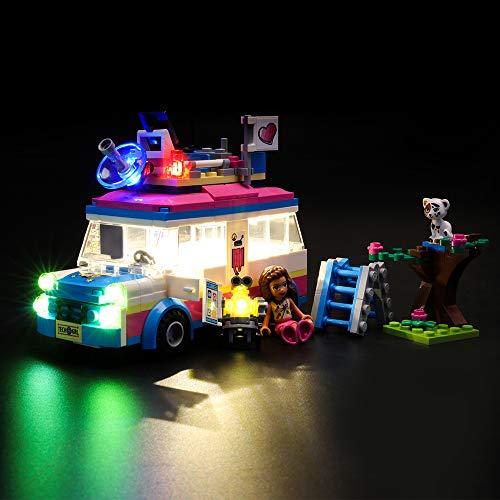 LIGHTAILING Conjunto de Luces (Friends Vehículo de Operaciones de Olivia) Modelo de Construcción de Bloques - Kit de luz LED Compatible con Lego 41333 (NO Incluido en el Modelo)