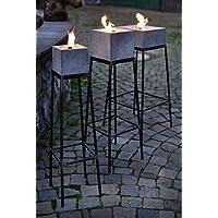 Ständer aus Stahl für Betonfeuer der Beske-Manufaktur   Ständer für Betonfeuer der Größen 13x13x13, 17x17x17, 17x17x13 und 24x24x13 wählbar   Höhe 60cm   100% Handarbeit 'Made in Germany'