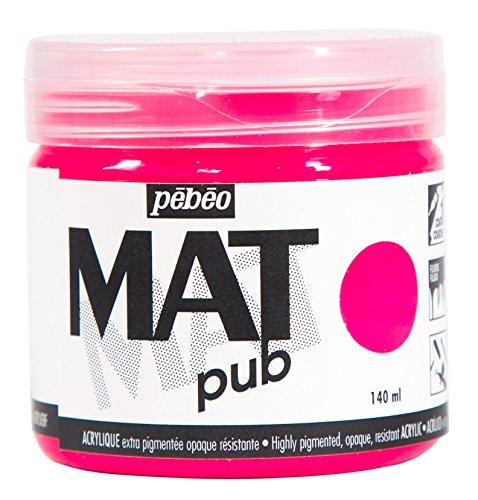 Pébéo 256028Acryl matt Pub Rosa Fluorescent 140ml