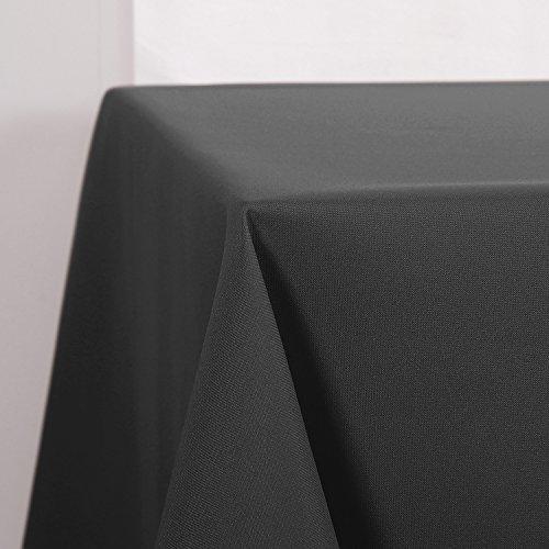 Deconovo Tischdecke Wasserabweisend Tischwäsche Tischtücher 140x240 cm Dunkelgrau
