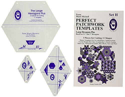Marti Michell perfekt groß Vorlage Patchwork Sechseck Set H, 3Stück