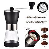 Manuelle Kaffeemühlen, Suliko Hand Kaffeemühle verstellbar Manuelle Coffee Grinder Konisches Keramikmahlwerk Hand Kaffee mahlen