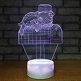 Belle 3D Avec 7 Couleurs Changer Gradient Bonhomme De Neige Boîte Aux Lettres Night Light Enfants Toucher Bouton Lampe De Table Spécial Dessin Animé Décoration