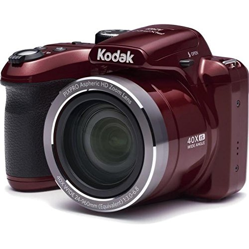 Kodak az401 Astro Zoom Digitalkamera Bridge – 16 Megapixel – 40 x optischer Zoom – Rot