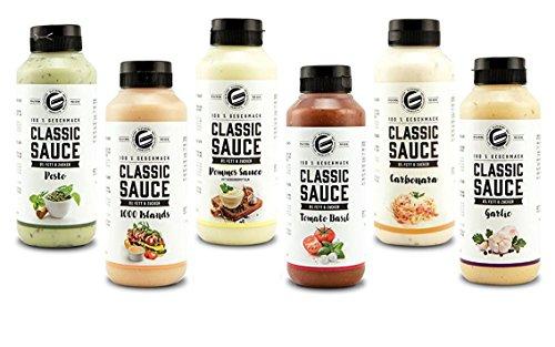Got7 Classic Sauce Soße Salatsoße Grillsoße Perfekt Zur Diät Abnehmen Fitness Bodybuilding 265ml (1. Mix Box)