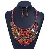 Colgante Collar Pendientes Conjuntos Collar boho vintage - Moda de plata larga bohemia turca temática collar oxidado para las mujeres gran joyería de fantasía étnica Conjuntos de joyas Accesorios Fest