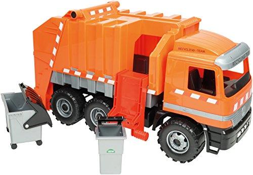Riesen Müllwagen Actros 3-Achser, ca. 64 cm, orange (Dickie-spielzeug-müll-lkw)