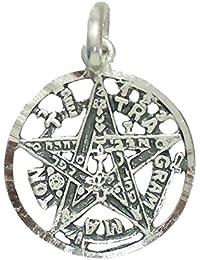 Colgante plata ley 925m tetragramatón 19mm. amuleto. [AB2770]