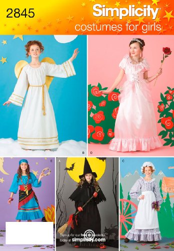 Simplicity Muster 2845Kind und Mädchen Kostüme Größe, 2-4, 6-8, 10-12