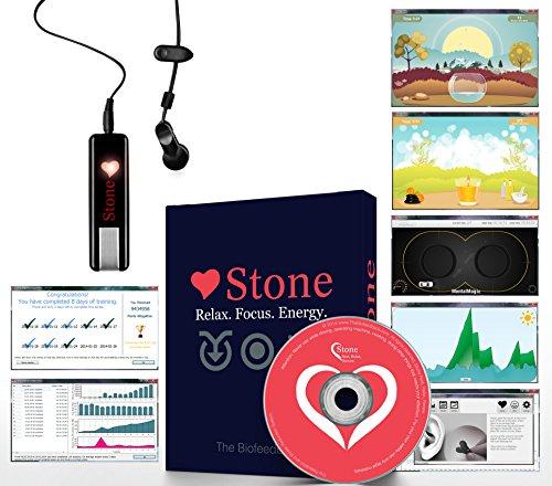 Biofeedback Stone Home Meditationssoftware und Spiele, zur Entspannung, bekämpft Angstzustände/Stress, mit Atemtechniken