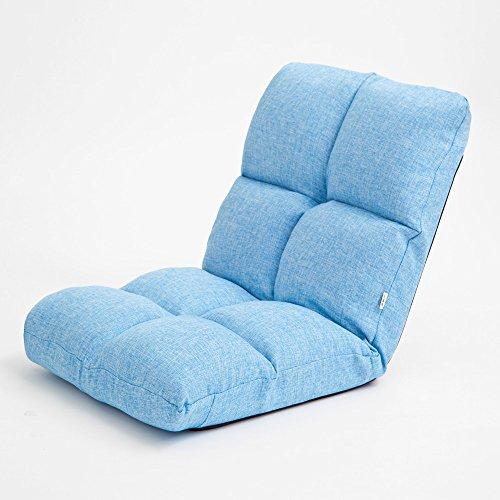 Lazy Chair Klappbett Schlafzimmer Gemütliche Freizeit Grün / Blau / Braun / Rot / Khaki ( Farbe : Blau ) -