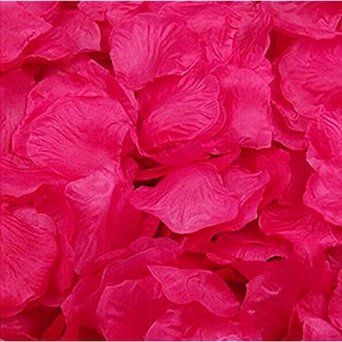 Magik 1000~ 5000pcs flores de seda rosa pétalos boda fiesta Pasty decoraciones de mesa, de varias opciones, hot pink, 1000