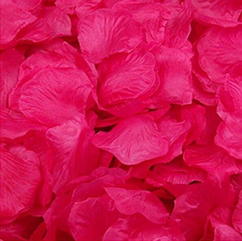 Blumen Rosenblätter Hochzeit Party Tischdekorationen, verschiedene Möglichkeiten (3000 Hot Pink) (Hot Pink Party Supplies)