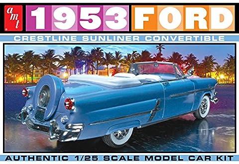 1953 Ford Crestline Sunliner Convertible 1:25 AMT Model Kit Bausatz AMT1026