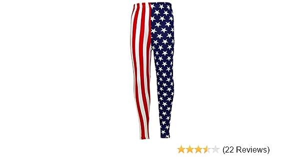 Girls USA Legging Kids Stripes   Stars Print American Leggings New Age 7 8  9 10 11 12 13 Years  Amazon.co.uk  Clothing c56ea688962c