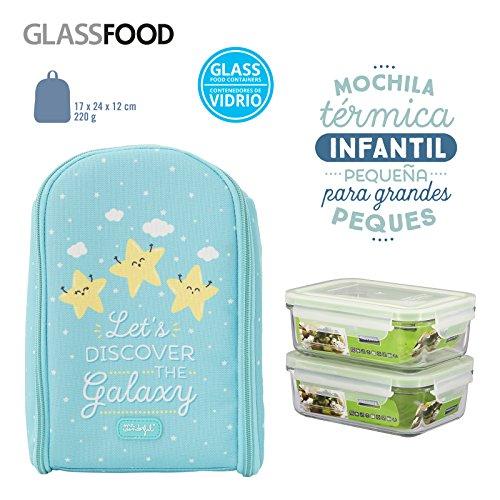 Pack Mochila Térmica Infantil Mr. Wonderful y 2 Taper Glasslock de Vidrio...