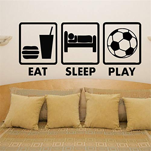 zqyjhkou 2018 Real Neymar Wandaufkleber Wohnkultur Schlafzimmer Wand Eat Sleep Spielen Fußball Fan Kinder Aufkleber Aufkleber Bildwand M768 58 x 26 cm -